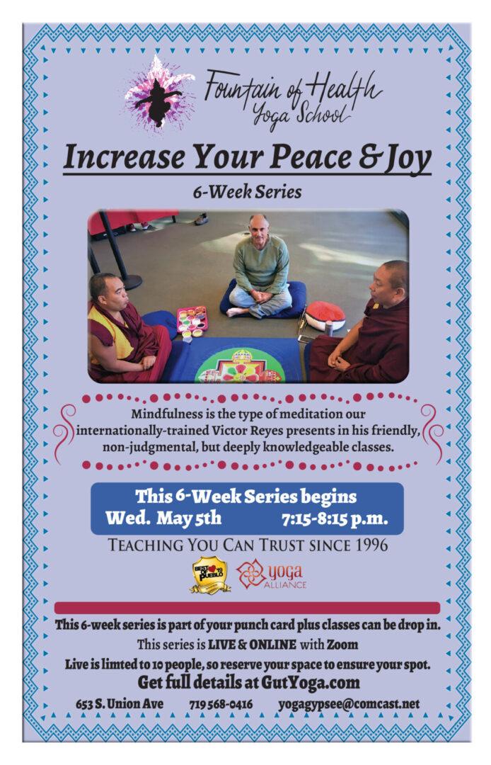Increase your peace & joy 6 week Series -Victor-1
